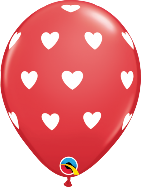 Luftballon >>LOVELY HEARTS - ROT<<