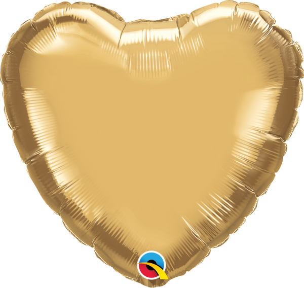 Ballon >>CHROME GOLD - HERZ<<