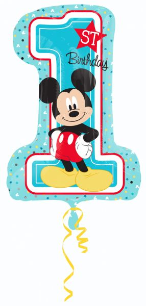 Ballon >>MICKEY 1ST B-DAY XXL<<