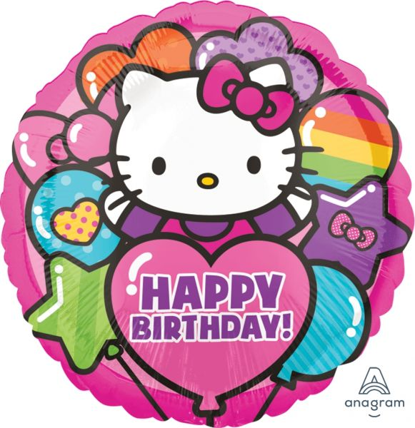 Ballon >>HELLO KITTY - HAPPY B-DAY<<
