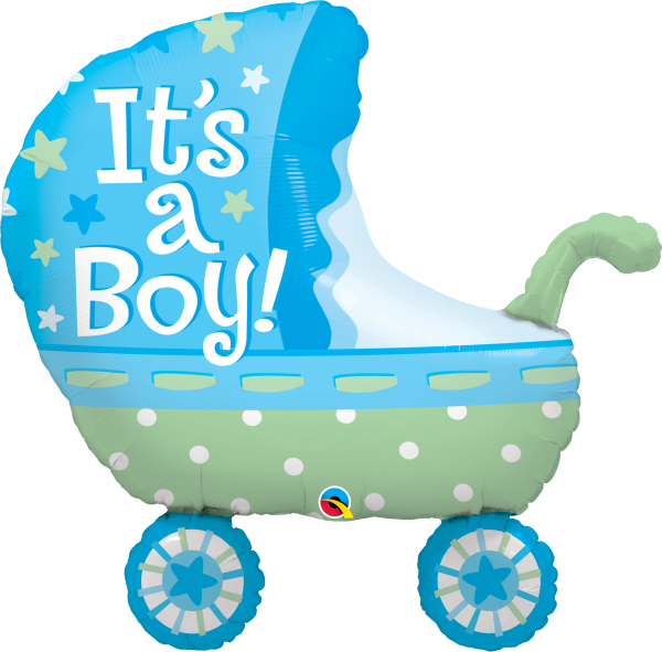 Ballon >>IT'S A BOY - BUGGY<<