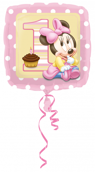 Ballon >>MINNIE MOUSE - 1ST BIRTHDAY<<