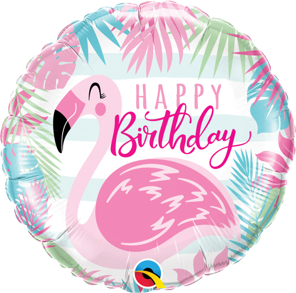 Ballon >>HAPPY BDAY - FLAMINGO<<