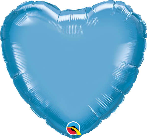 Ballon >>CHROME BLAU - HERZ<<