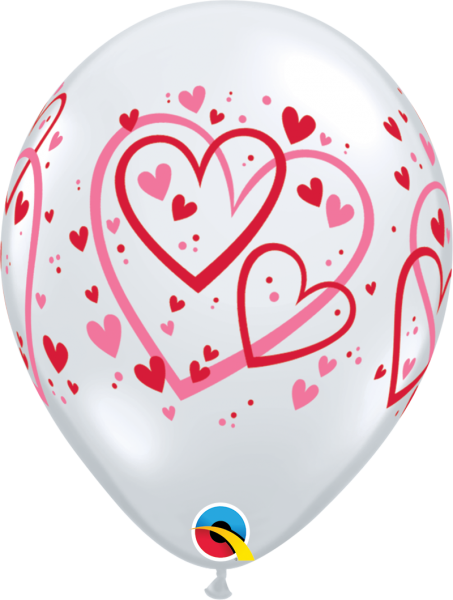 Luftballon >>CRYSTAL HEARTS<<