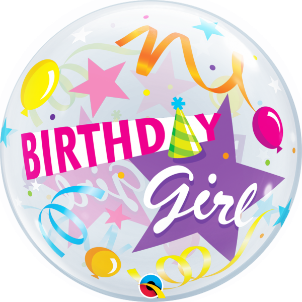 Ballon >>BIRTHDAY GIRL - YAY<<