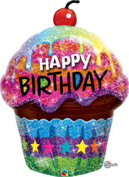 Ballon >>HAPPY BIRTHDAY - SWEET CUPCAKE<<