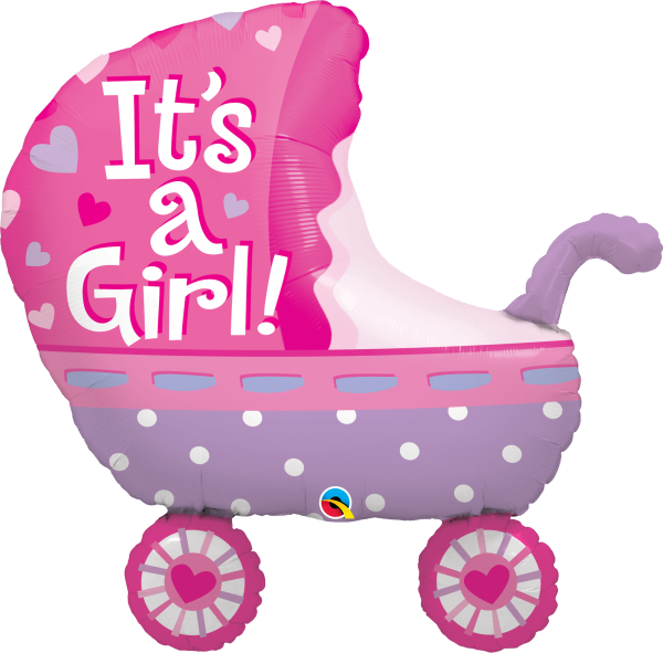 Ballon >>IT'S A GIRL - BUGGY<<