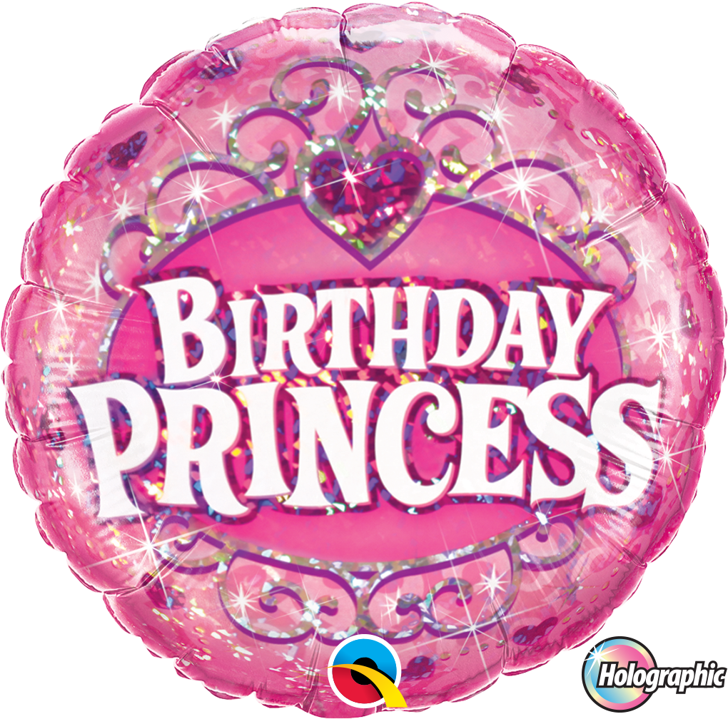 Ballon >>BIRTHDAY PRINCESS - KRONE<< | Geburtstagsballons | Ballons ...