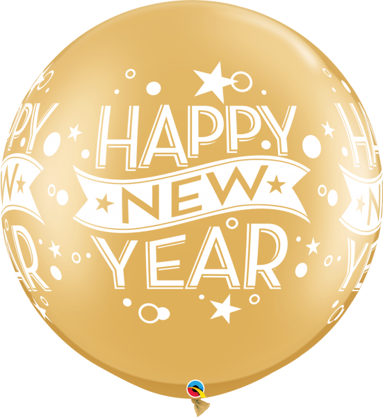 Riesenballon >>HAPPY NEW YEAR - GOLD<<