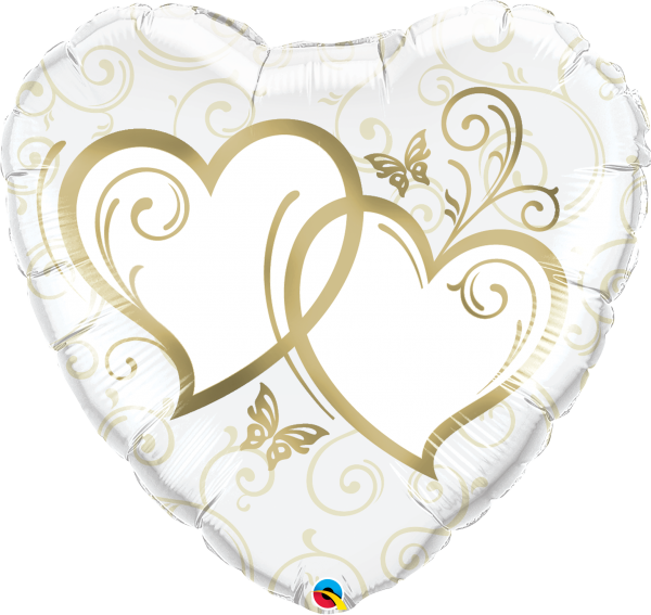 XXL-Ballon >>ENTWINED HEARTS - GOLD<<
