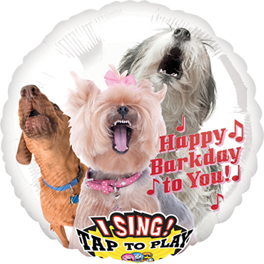Singender Ballon >>DOGS - HAPPY BIRTHDAY<<