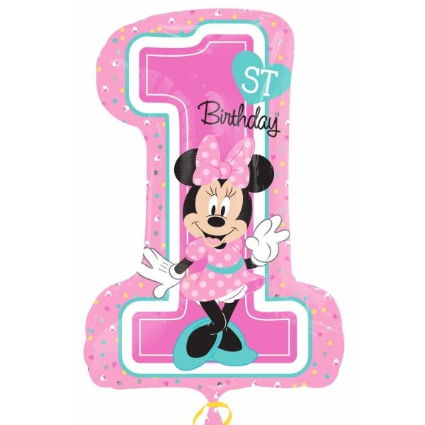 Ballon >>MINNIE 1ST B-DAY XXL<<
