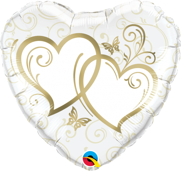 Ballon >>ENTWINED HEARTS - GOLD<<