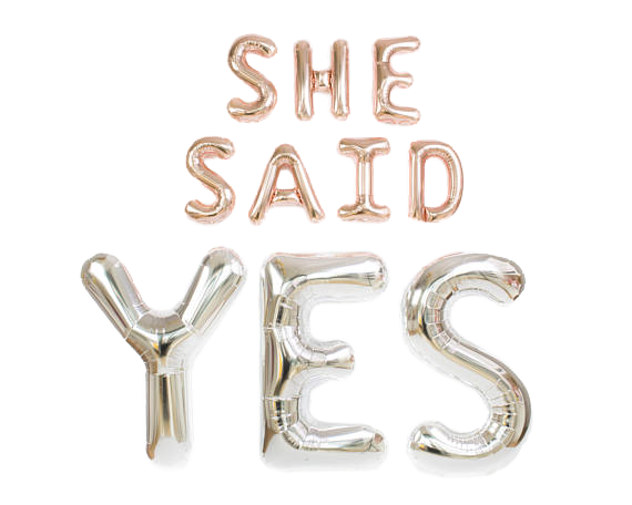 Ballon-Set >>SHE SAID YES<<