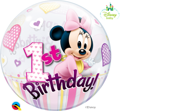 Ballon >>MINNIE - 1ST B-DAY<<