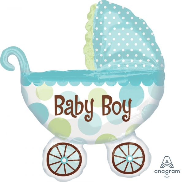 Ballon >>BUGGY - BABY BOY<<