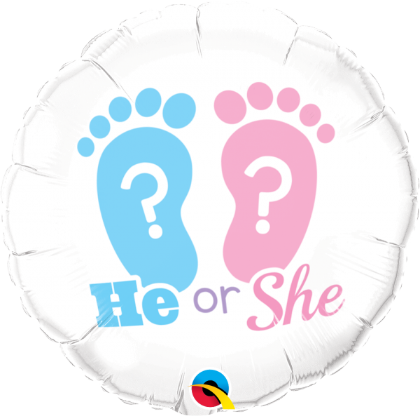 Ballon >>HE OR SHE?<<