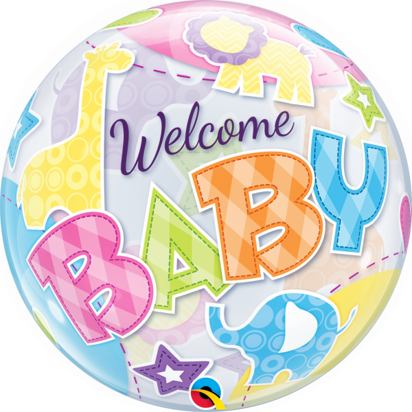 Ballon >>WELCOME BABY - ANIMALS<<