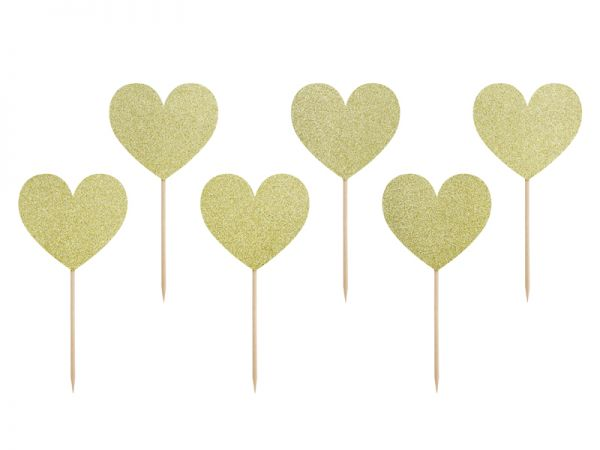 Cupcake-Topper >>LOVE - GOLD<<