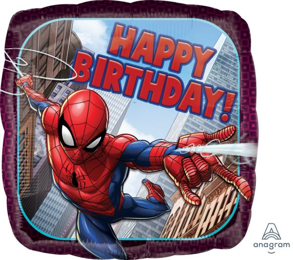 Ballon >>HAPPY B-DAY - SPIDER-MAN ANIMATED<<