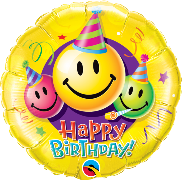 Ballon >>HAPPY B-DAY - SMILEY<<