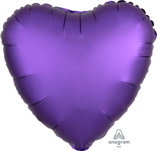 Ballon >>HERZ SATIN LUXE - PURPLE ROYAL<<