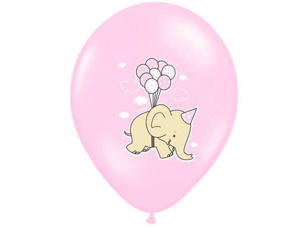Luftballon >>BABY GIRL - ELEFANT<<