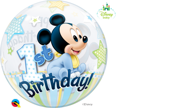 Ballon >>MICKEY MOUSE - 1ST B-DAY<<