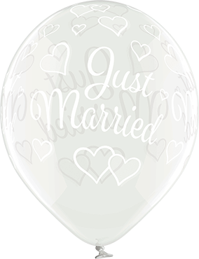 Luftballons >>JUST MARRIED - CRYSTAL<<