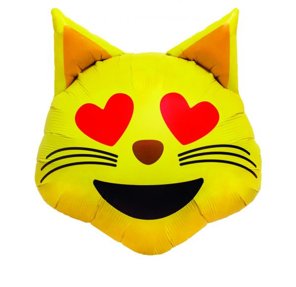 Ballon >>EMOJI CAT HEART<<