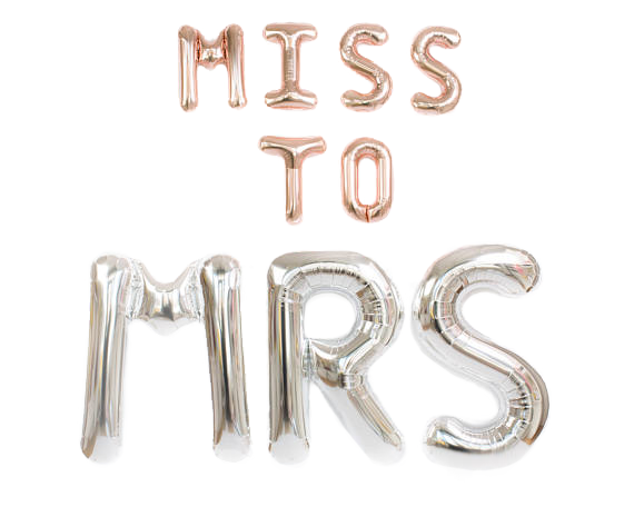 Ballon-Set >>MISS TO MRS<<