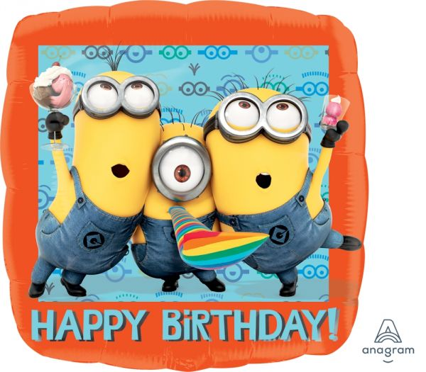 Ballon >>MINIONS - HAPPY B-DAY<<